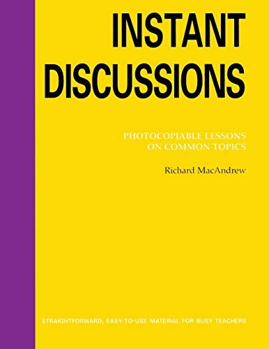 BOOKS FOR TEACHERS: INSTANT DISCUSSIONS