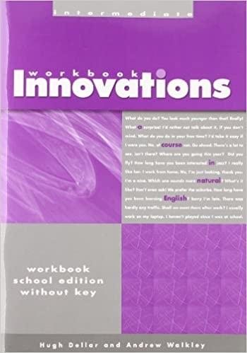 INNOVATIONS INTERMEDIATE - WORKBOOK