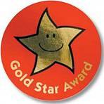 Medaile se zlatou hvězdou - 38mm nálepka