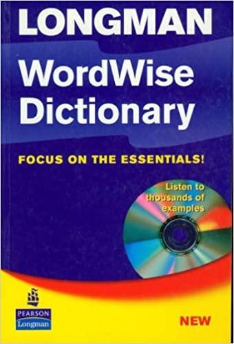 Longman Wordwise Dictionary Paper + CD- ROM : 9780582506770