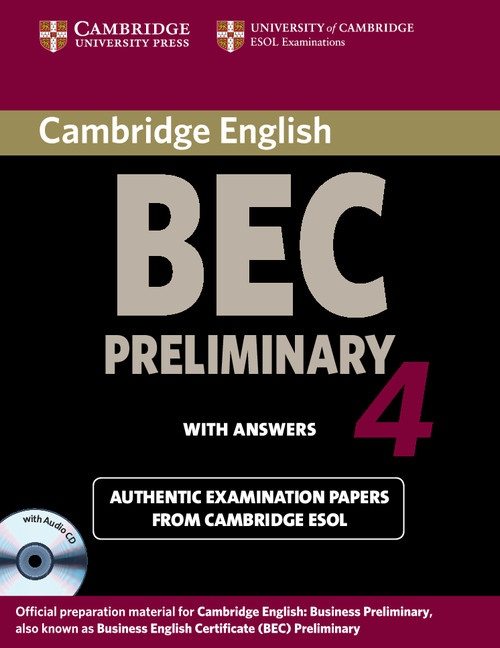 Cambridge BEC Preliminary 4 Self-Study Pack