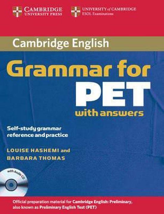 CAMBRIDGE GRAMMAR FOR PET WITH KEY + CD