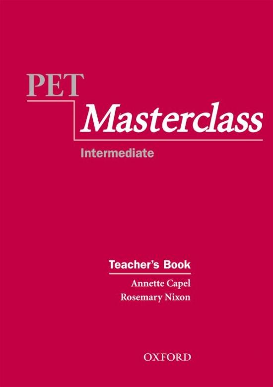 PET MASTERCLASS TEACHER´S BOOK : 9780194514057