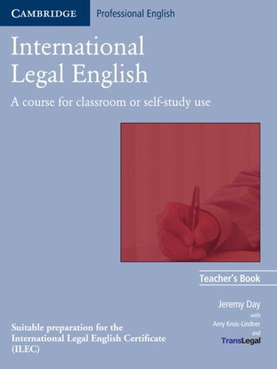 International Legal English Teacher´s Book : 9780521685566