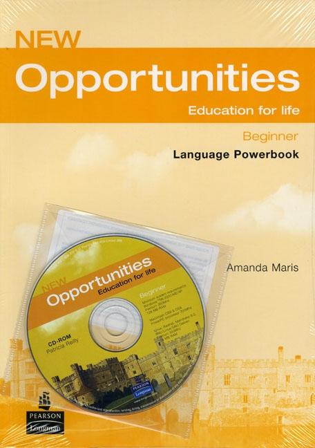 NEW OPPORTUNITIES Beginner Language Powerbook + CD-ROM : 9781405837958