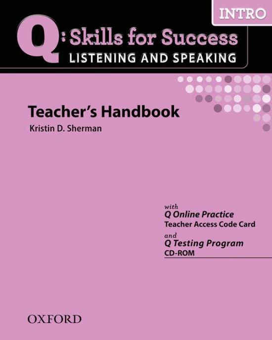 Q: Skills for Success Listening & Speaking Intro Teacher´s Book