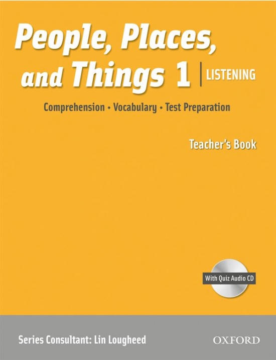 People, Places, and Things Listening 1 Teacher´s Book with Audio CD : 9780194743624