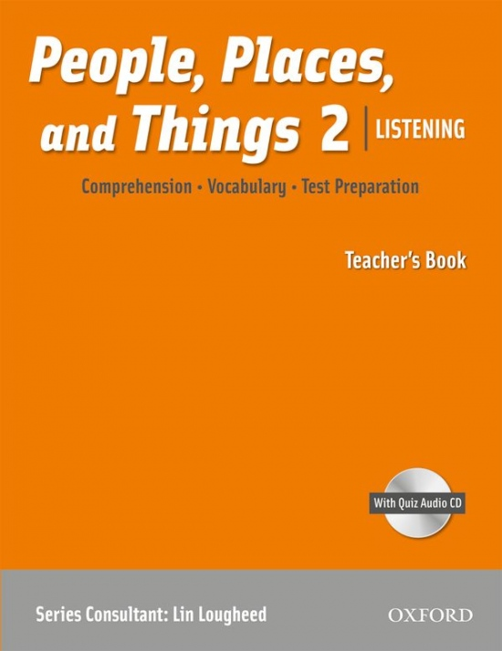 People, Places, and Things Listening 2 Teacher´s Book with Audio CD : 9780194743631