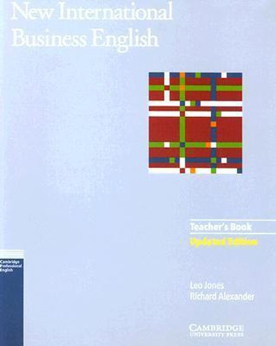 New International Business English Updated Edition Teachers Book : 9780521774710