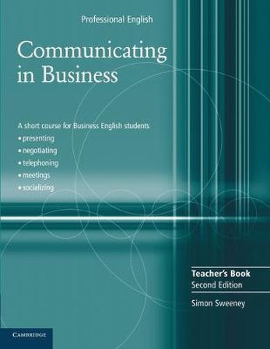 Communicating in Business 2nd Edition Teachers Book