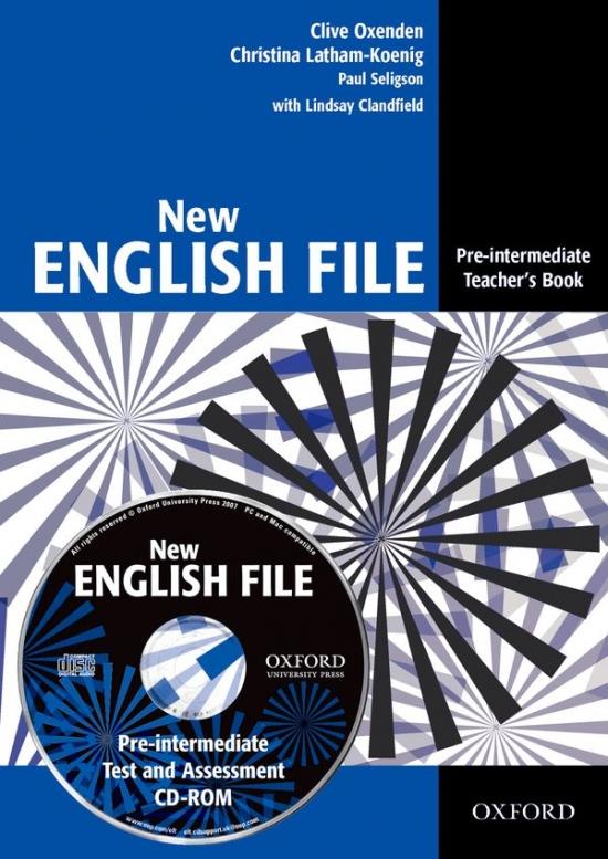 NEW ENGLISH FILE PRE-INTERMEDIATE TEACHER´S BOOK + TESTS RESOURCE CD-ROM