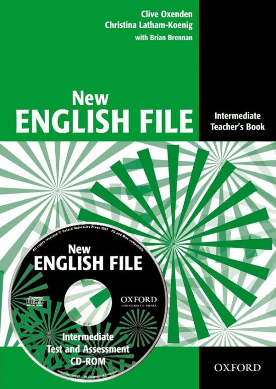 NEW ENGLISH FILE INTERMEDIATE TEACHER´S BOOK + TESTS RESOURCE CD-ROM