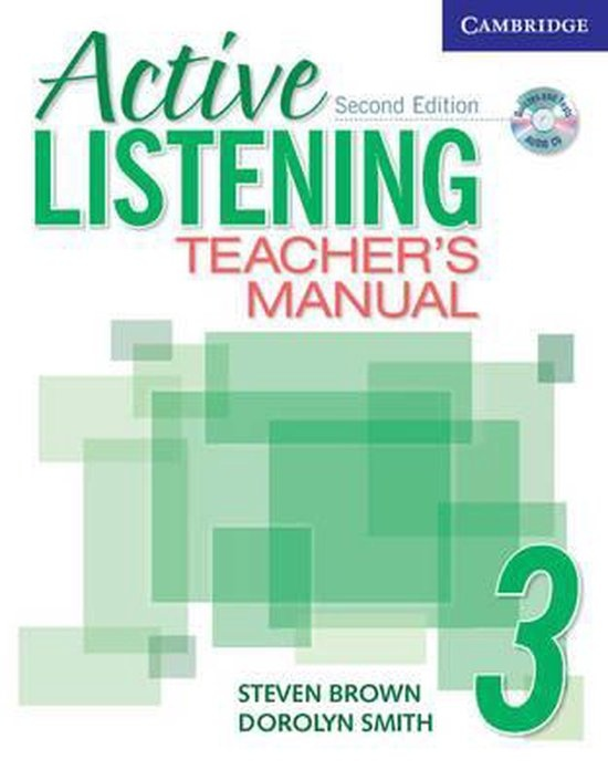 Active Listening Second Edition Level 3 Teacher´s Manual with Audio CD