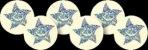 Stříbrné třpytivé hvězdičky - 24mm nálepky
