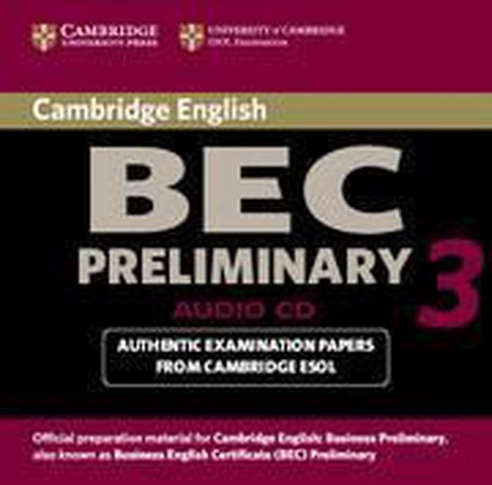 Cambridge BEC 3 Preliminary Audio CD