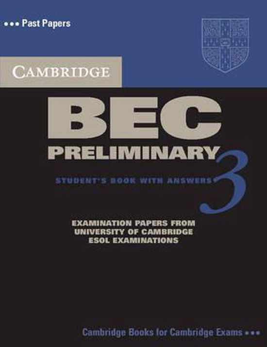 Cambridge BEC 3 Preliminary Self-study Pack (SB with ans + A-CD) : 9780521671965