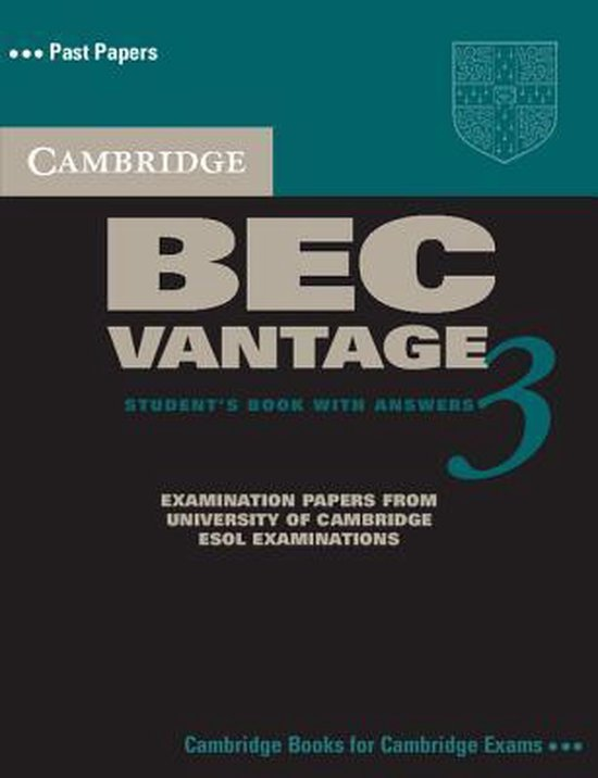 Cambridge BEC 3 Vantage Self-study Pack (SB with ans + A-CD)