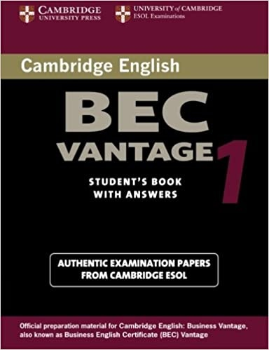 Cambridge BEC Vantage Practice Tests 1 Student´s Book with answers