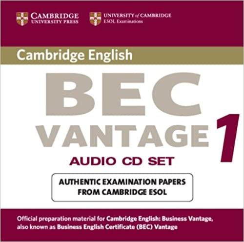 Cambridge BEC Vantage Practice Tests 1 Audio CD