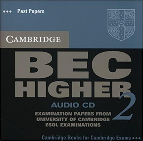 Cambridge BEC Higher Practice Tests 2 Audio CD : 9780521544603