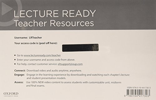 Lecture Ready 1 - 3 (Pre-Intermediate - Advanced) (2nd Edition) Teacher Internet Access Card Pack