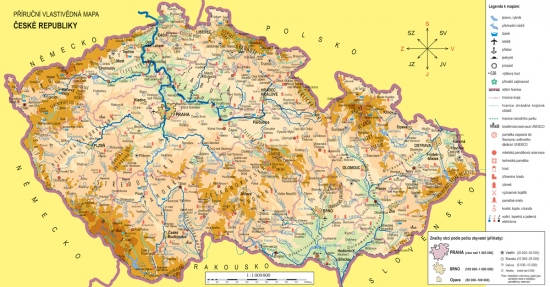 Náhradní mapa k učebnici Vlastivěda 4 - Poznáváme naši vlast (4-41) : 8595606700734