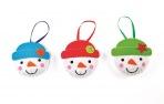 Šitíčko k výrobě dekorace sněhuláci (3 ks) : 5051174052635