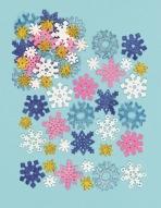 Pěnové samolepky sněhové vločky lesklé (120 ks)