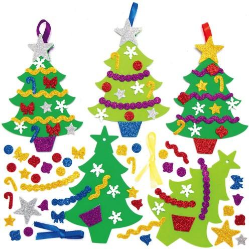Pěnové vánoční stromky k dokončení (8 ks) AX426