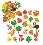 Pěnové samolepky – lesní zvířátka Woodland (100 ks)