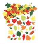 Plstěné samolepky listí (144 ks)