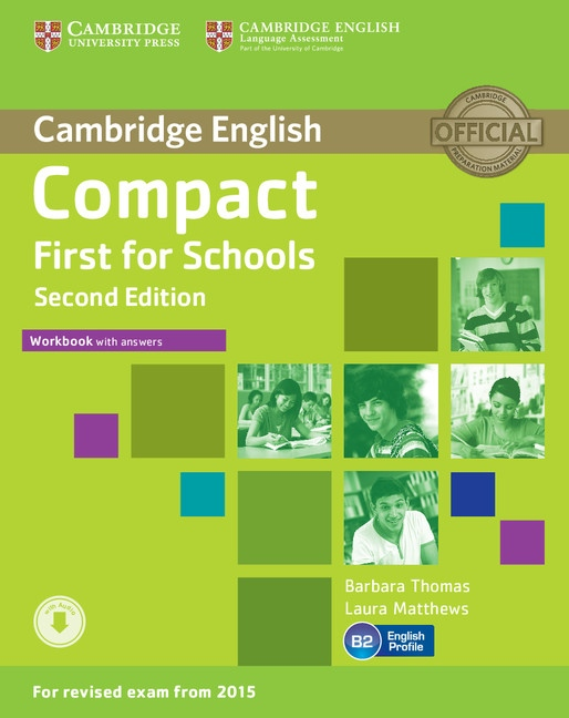 Compact First for Schools (2nd Edition) Workbook with Answers & Audio