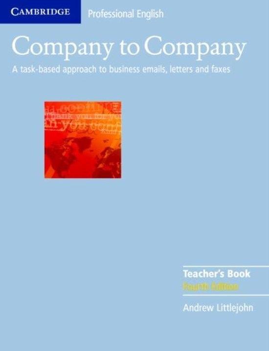 Company to Company 4th Edition Teacher´s Book : 9780521609760
