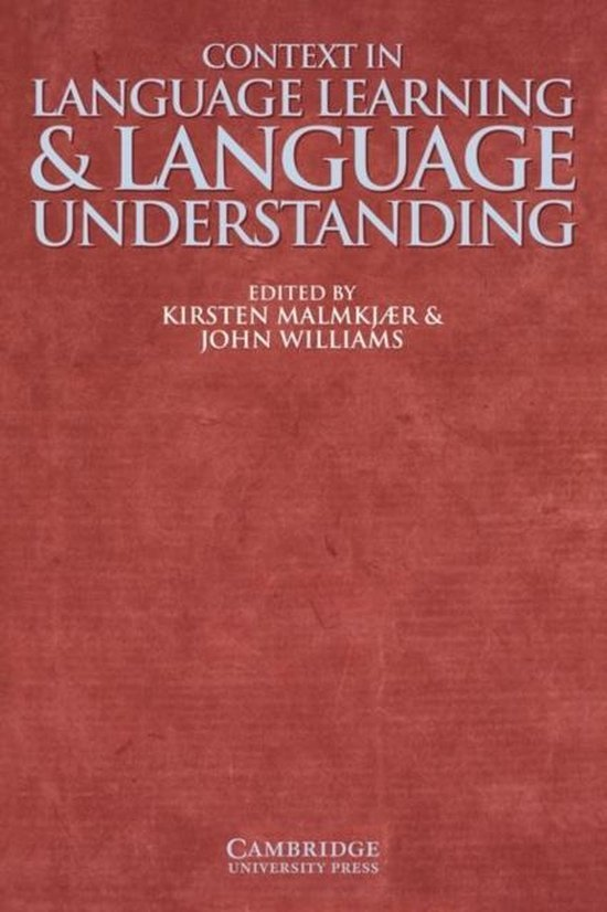 Context in Language Learning and Language Understanding PB : 9780521633550