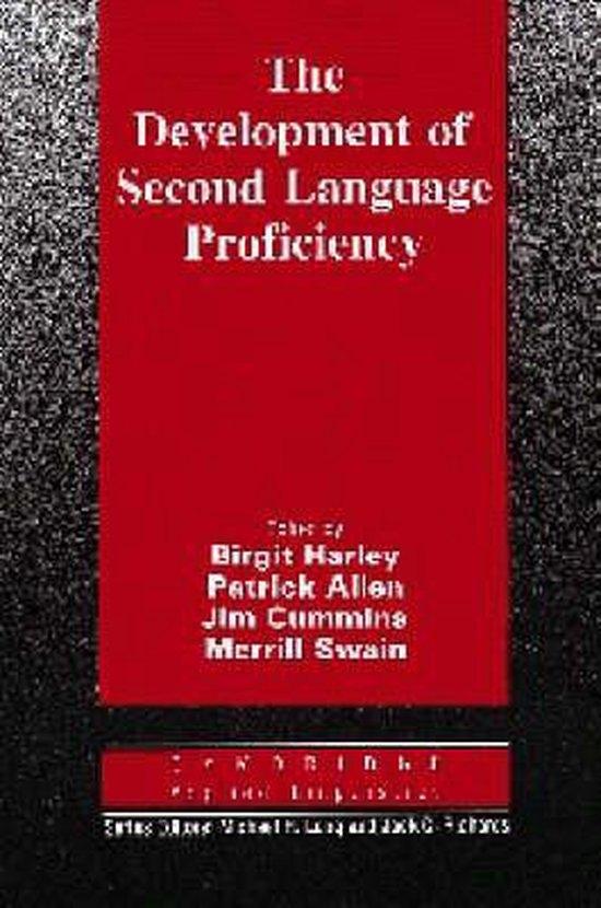 The Development of Second Language Proficiency. PB : 9780521387958