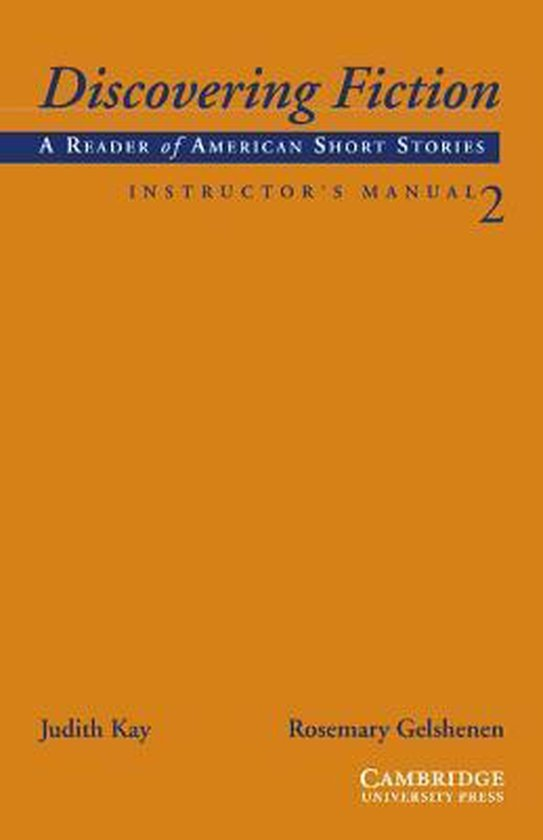 Discovering Fiction Level 2 Instructor´s Manual : 9780521008099