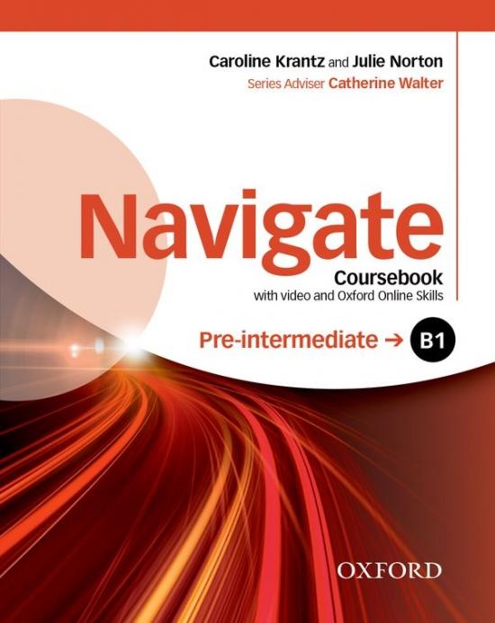 Navigate Pre-Intermediate B1 Coursebook with DVD-ROM & Online Skills