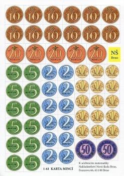 Papírové mince – karta