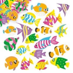 Pěnové samolepky tropické rybky (100)