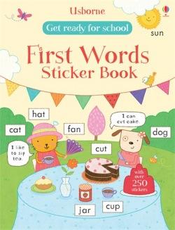 Usborne Get ready for school first words sticker book