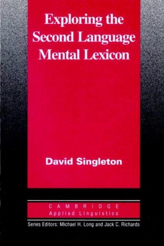 Exploring the Second Language Mental Lexicon PB : 9780521555340