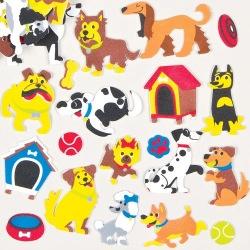 Pěnové samolepky psy (120ks)