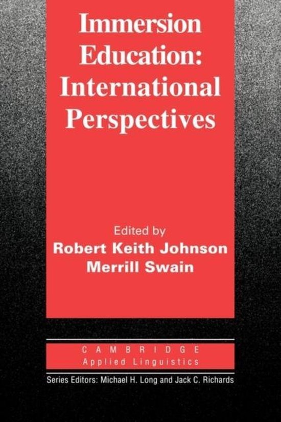Immersion Education International Perspectives PB : 9780521586559