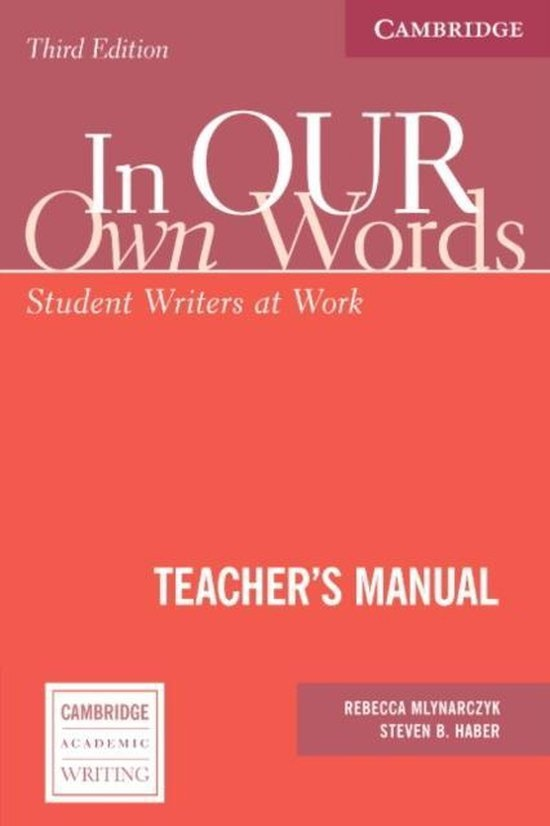 In Our Own Words. Third Edition Teacher´s Manual : 9780521540292