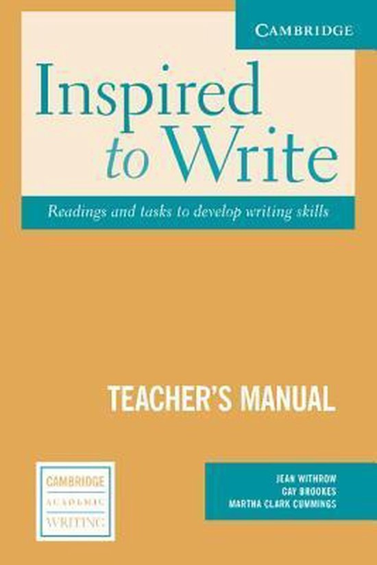 Inspired to Write Instructor´s Manual