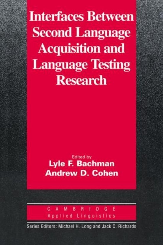 Interfaces Between Second Language Acquisition ... PB : 9780521649636