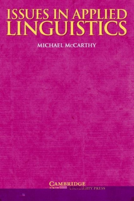 Issues in Applied Linguistics PB : 9780521585460