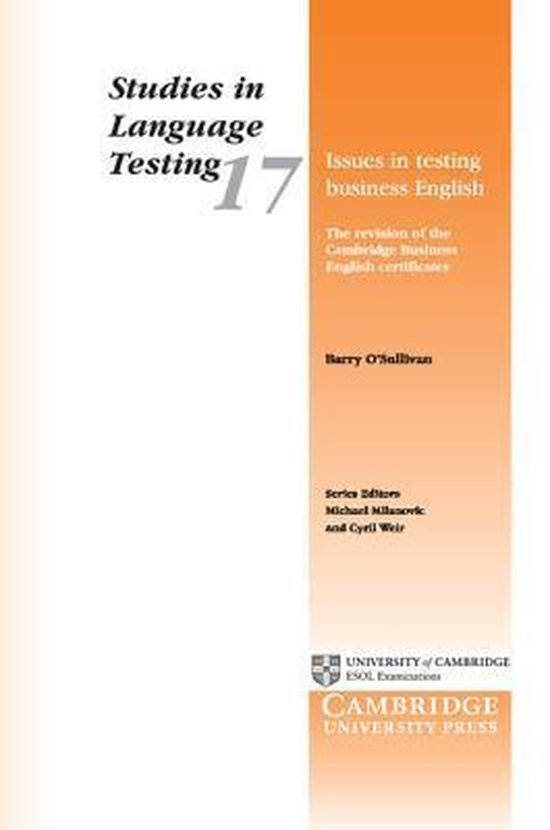 Issues in Testing Business English : 9780521013307