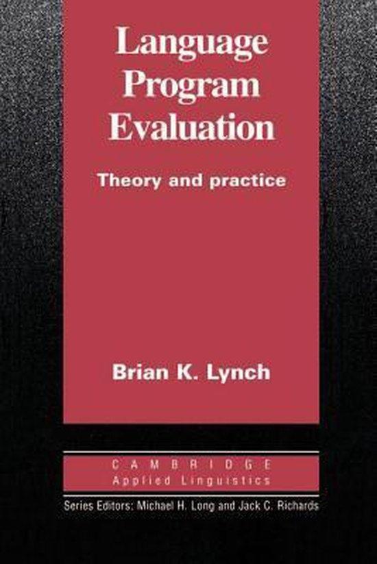 Language Program Evaluation PB : 9780521484381