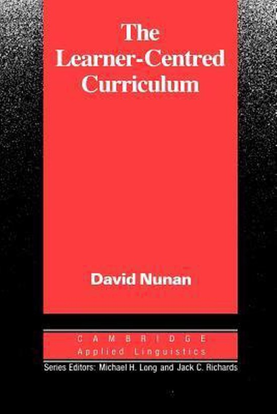 Learner-Centred Curriculum. The PB : 9780521358439